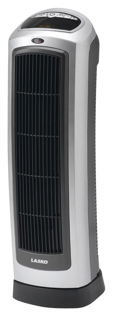 Lasko - Ceramic Tower Heater - Gray/Black