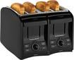 Hamilton Beach - PerfectToast 4-Slice Wide-Slot Toaster - Black