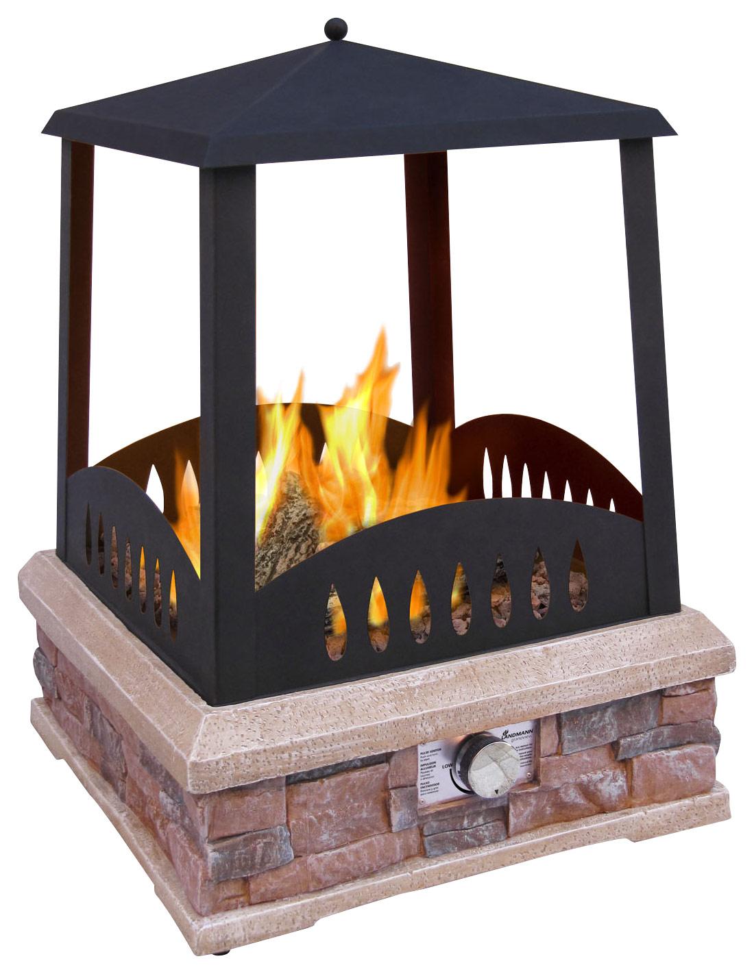 Landmann - Grandview Outdoor Gas Fireplace - Black