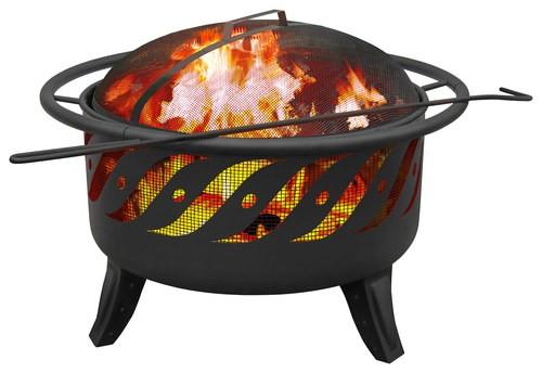 Landmann - Patio Lights Firewave Fire Pit - Black