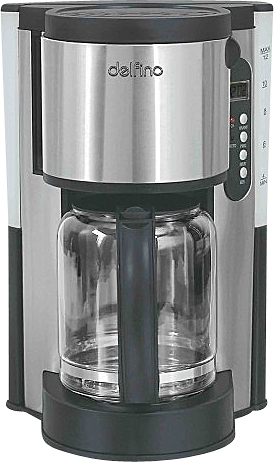 Toastess DLFC381 Steel Coffee Maker 12 Cup