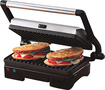 West Bend - Countertop Indoor Grill and Panini Press - Black/Silver