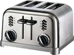 Cuisinart - Metal Classic 4-Slice Toaster - Black, Chrome