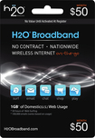 H2O Broadband - Month $50 Airtime Card