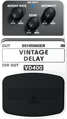 Behringer - Vintage Delay Pedal for Electric Guitars - Silver