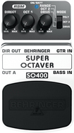 Behringer - Super Octaver Effects Pedal for Electric and Bass Guitars - Black