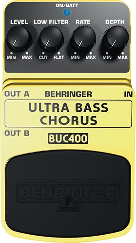 Behringer - Ultra Bass Chorus Effects Pedal for Bass Guitars - Yellow
