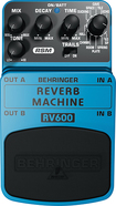 Behringer - Reverb Machine Pedal for Electric Guitars - Blue