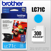 Brother - LC71C Ink Cartridge - Cyan