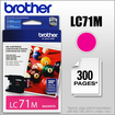 Brother - LC71M Ink Cartridge - Magenta