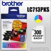 Brother - LC71CL 3-Pack Ink Cartridges - Yellow/Cyan/Magenta