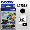 Brother - LC75BK XL High-Yield Ink Cartridge - Black