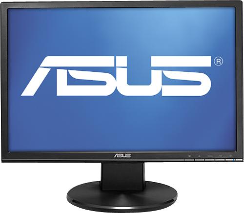 Asus - 19 Widescreen Flat-Panel LED Monitor - Black