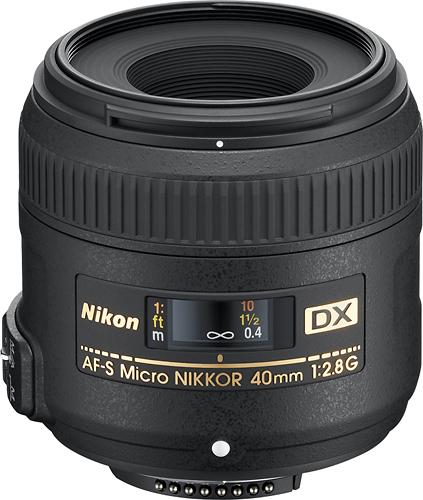 Nikon - AF-S DX Micro-NIKKOR 40mm f/2.8G Macro Lens - Black