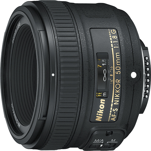 Nikon - AF-S NIKKOR 50mm f/1.8G Standard Lens - Black
