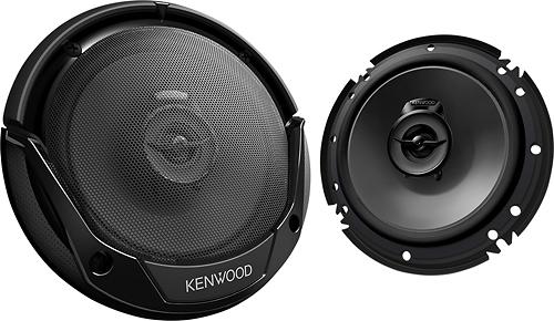 """Kenwood - Road Series 6-1/2"""" 2-Way Car Speakers with Paper Woofer Cones (Pair) - Black"""