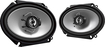 "Kenwood - Road Series 6"" x 8"" 2-Way Car Speakers with Paper Woofer Cones (Pair) - Black"