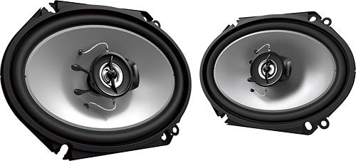 """Kenwood - Road Series 6"""" x 8"""" 2-Way Car Speakers with Paper Woofer Cones (Pair) - Black"""
