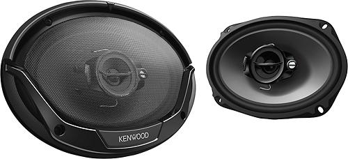 """Kenwood - Road Series 6"""" x 9"""" 3-Way Car Speakers with Polypropylene Cones (Pair) - Black"""