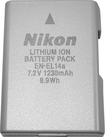 Nikon - EN-EL14a Rechargeable Lithium-Ion Battery - Silver