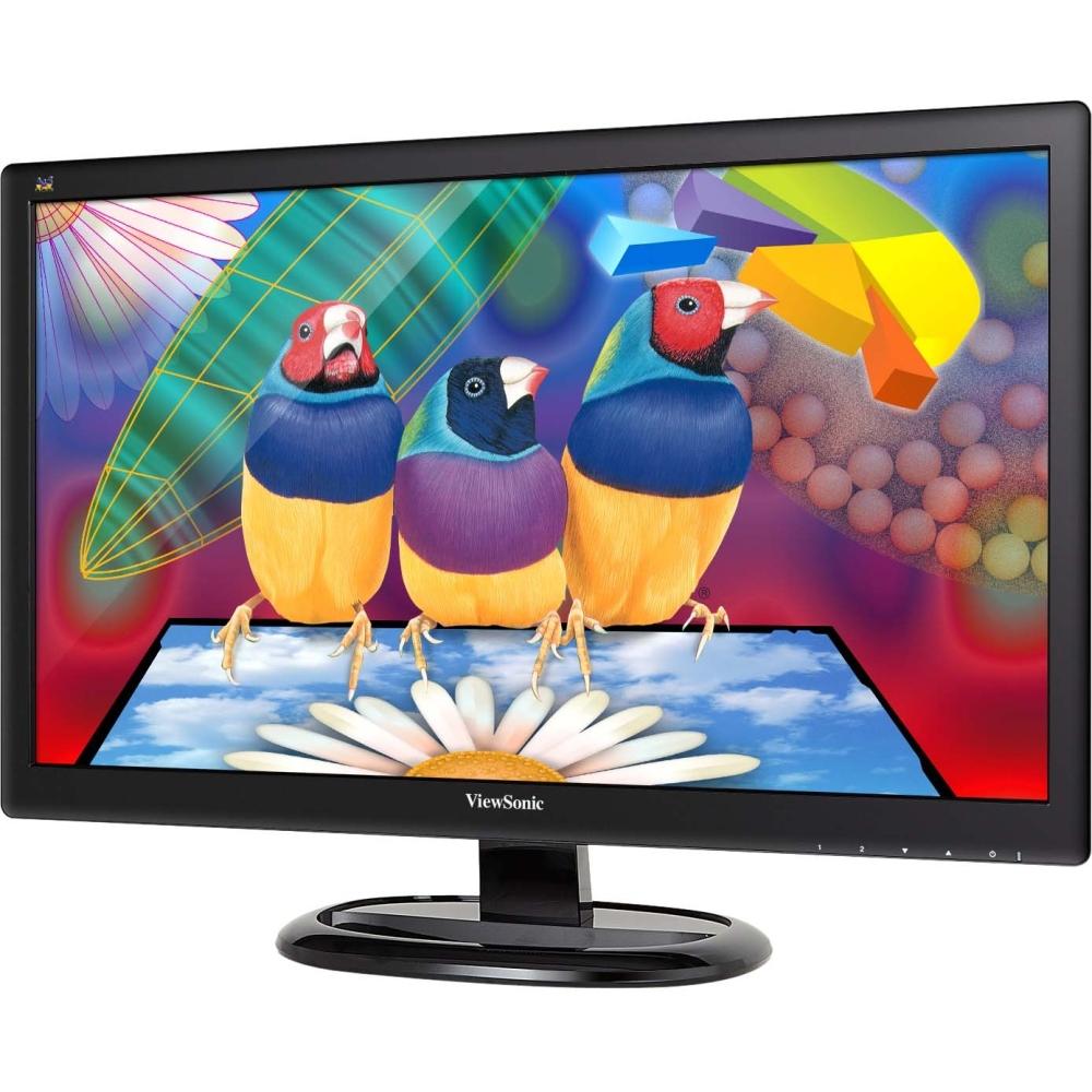 "ViewSonic - 23.6"" IPS LED HD Monitor - Black"