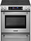 """KitchenAid - Pro Line Series 30"""" Self-Cleaning Slide-In Electric Convection Range - Stainless-Steel"""