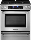 """KitchenAid - Pro Line Series 30"""" Self-Cleaning Slide-In Dual Fuel Convection Range - Stainless-Steel"""