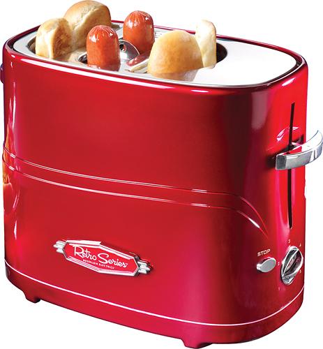 Nostalgia Electrics - Retro Series Pop-up Hot Dog Toaster - Red 3224188