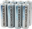 Lenmar - Rechargeable AA Batteries (8-Pack) - Silver
