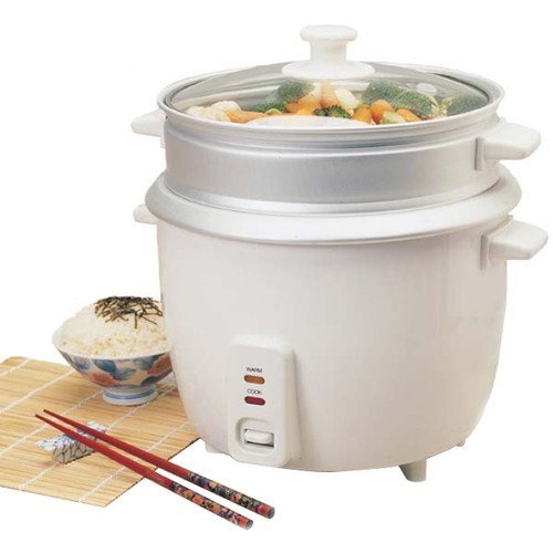 Elite - Cooker & Steamer - Aluminum Inner Pot, White