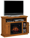 "Twin-Star - Cannes Media Mantel for Most Flat-Panel TVs Up to 53"" - Oak"