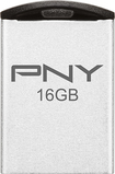 PNY - Micro Metal Attaché 16GB USB Flash Drive - Matte Silver