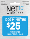 NET10 - $25 Top-Up Prepaid Card