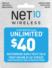NET10 - $40 Top-Up Prepaid Card