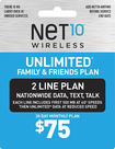 NET10 - $75 Family Plan Top-Up Card - Gray/Blue