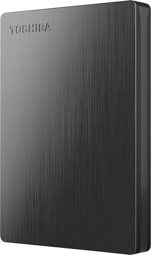 Toshiba - Canvio Slim II 500GB External USB 3.0/2.0 Portable Hard Drive - Black