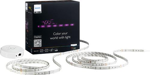 Philips - Friends of hue 120-Lumen, 12W LightStrip Luminaire Starter Kit, 15W Equivalent - Multicolor