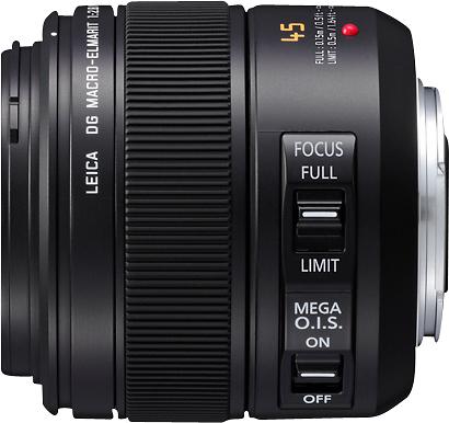Leica - DG 45mm f/2.8 Aspherical Mega O.I.S. Macro Lens for Select LUMIX G-Series DSLR Cameras - Black