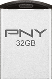 PNY - Micro Metal Attaché 32GB USB 2.0 Flash Drive - Matte Silver