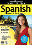 Instant Immersion Spanish Levels 1, 2 and 3 Family Edition - Mac|Windows