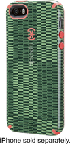 Speck - Case for Apple® iPhone® 5 and 5s - Military Green/Red