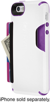 Speck - Shellcard Case for Apple® iPhone® 5 and 5s - White/Purple