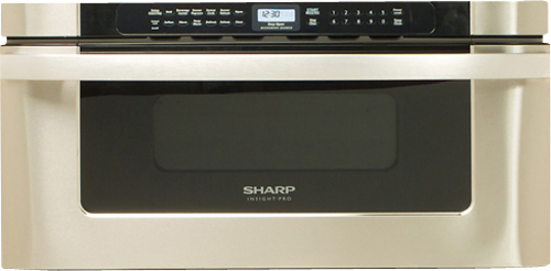 Sharp - 1.2 Cu. Ft. Built-In Microwave - Stainless Steel