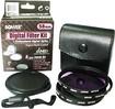 Bower - 52mm Lens Filter Kit - Clear/Gray/Black
