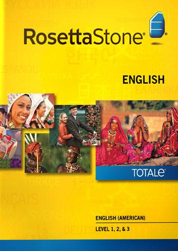 Rosetta Stone Version 4 TOTALe: English (American) Level 1, 2 & 3 - Mac|Windows