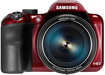 Samsung - WB1100 16.2-Megapixel Digital Camera - Red