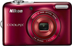 Nikon - Coolpix L30 20.0-Megapixel Digital Camera - Red