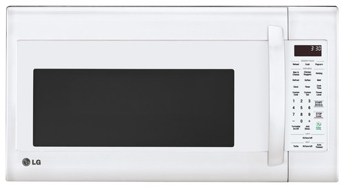 LG - 2.0 Cu. Ft. Over-the-Range Microwave - Smooth White