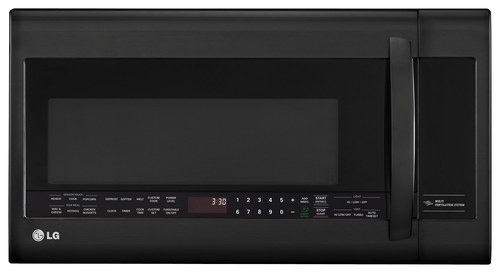 LG - 2.0 Cu. Ft. Over-the-Range Microwave - Smooth Black