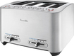 Breville - Smart Toaster 4-Slice Wide-Slot Toaster - Steel